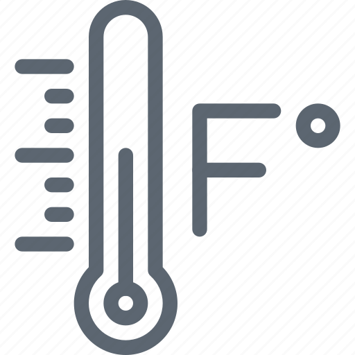 farenheit, forecast, temperature, thermometer, weather icon