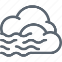 cloud, clouds, fog, foggy, forecast, weather icon