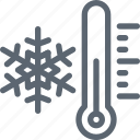 cold, freazing, snow, snowflake, temperature, thermometer, winter icon