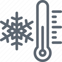 cold, freazing, snow, snowflake, temperature, thermometer, winter icon