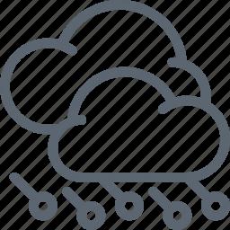 cloud, clouds, forecast, hail, hailstorm, storm, weather icon