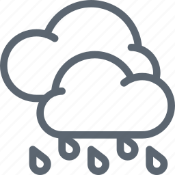cloud, clouds, forecast, rain, storm, weather icon