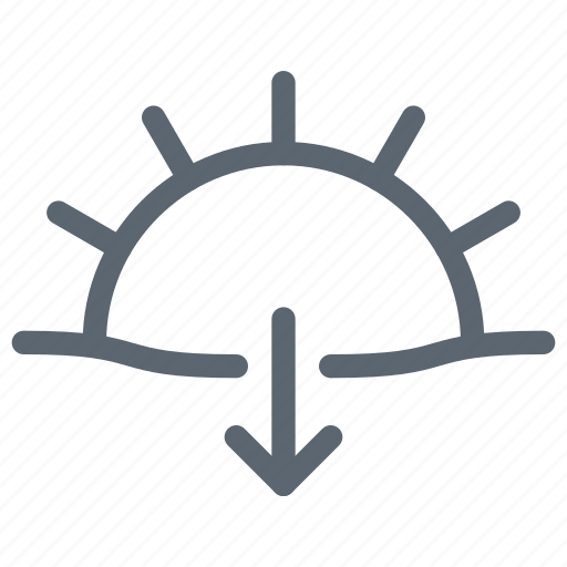 down, forecast, set, sun, sunset, weather icon