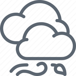 cloud, clouds, forecast, weather, wind, windy icon
