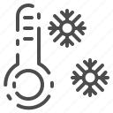 cold, forecast, snowflake, thermometer, weather, winter icon