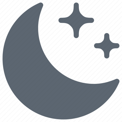 clear, forecast, moon, night, stars, weather icon