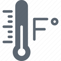fahrenheit, farenheit, forecast, temperature, thermometer, weather icon