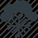 snowflake, snow bunting, winter, cloud, christmas icon