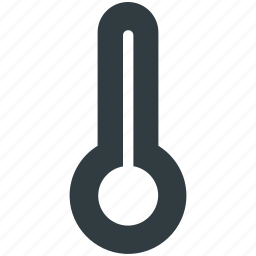 cold, hot, temperature, thermometer, weather indicator icon