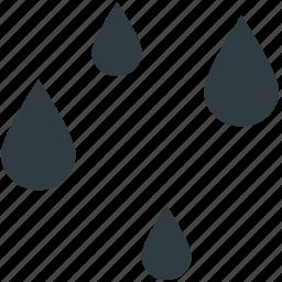 forecast, nature, raindrops, raining, rainy weather, weather icon