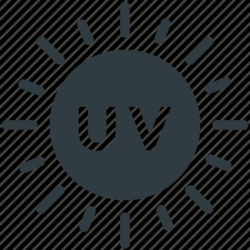 sun, ultraviolet illumination, ultraviolet light, ultraviolet radiation, uv icon