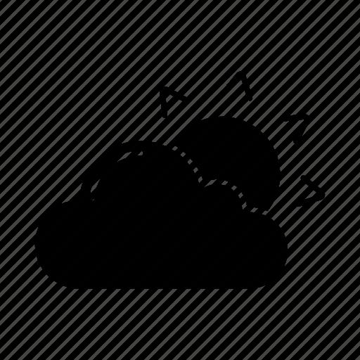 cloud, cloudy, sun, sunny, sunrise, sunshine, weather icon