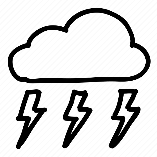 cloud, clouds, forecast, lightning, sky, storm, weather icon