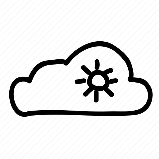 cloud, clouds, forecast, partly sunny, sky, sun, weather icon