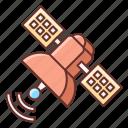 planet, satellite, space, spaceship