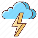 cloudy, thunder, thunderstorm, weather