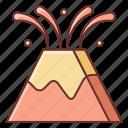 eruption, lava, nature, volcano icon