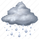 cloud, forecast, hail, rain, snow, storm, weather icon