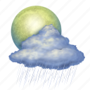 rain, moon, weather, forecast, clouds, cloud, cloudy