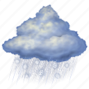 snow, rain, night, weather, forecast, cloud, cloudy