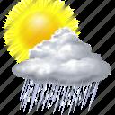 sun, rain, weather, forecast, sunny, cloud, cloudy
