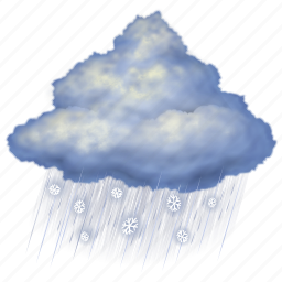 cloud, cloudy, forecast, night, rain, snow, weather icon