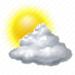 Cloud, clouds, cloudy, forecast, sun, sunny, weather icon ...
