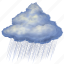cloud, clouds, cloudy, forecast, night, rain, weather icon