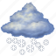 cloud, cloudy, forecast, night, snow, weather, winter icon