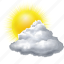 cloud, clouds, cloudy, forecast, sun, sunny, weather icon