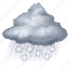 cloud, cloudy, forecast, rain, snow, storm, weather icon