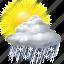 cloud, forecast, rain, snow, sun, sunny, weather icon