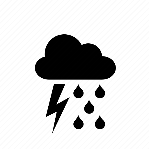 cloud, rain, raining, ray, storm, weather icon