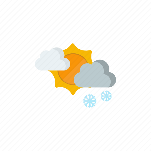 morning, partly cloudy, snowy, sun icon