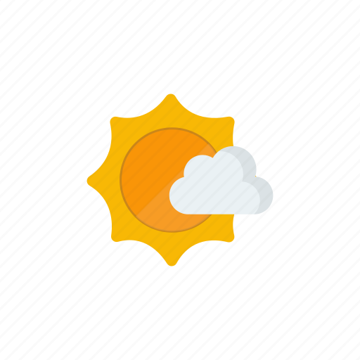 partly cloudy, sunny icon