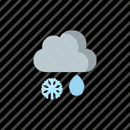 rainfall, snowy icon