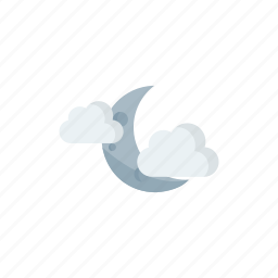 cloudy, night icon