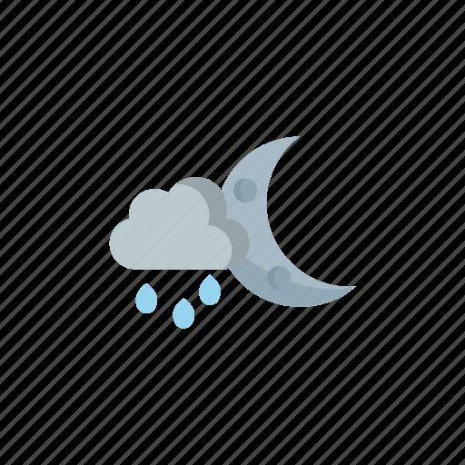 night, partly, rainy icon