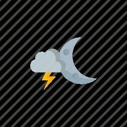 night, thunderstorm icon