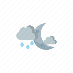 cloudy, night, rainy icon