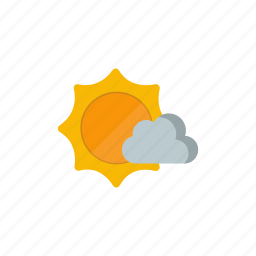 cloudy, partly, sunny icon