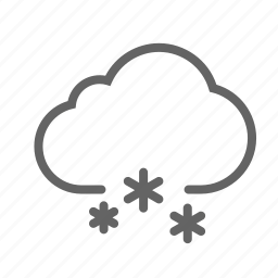 cloud, forecast, rain, sky, snow, weather icon