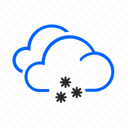 cloudy, occasional, snow, weather icon