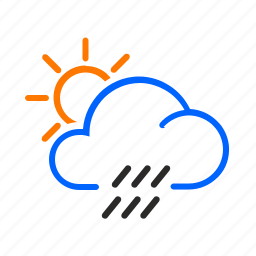 day, occasional, shower, weather icon