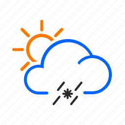 day, occasional, sleet, weather icon