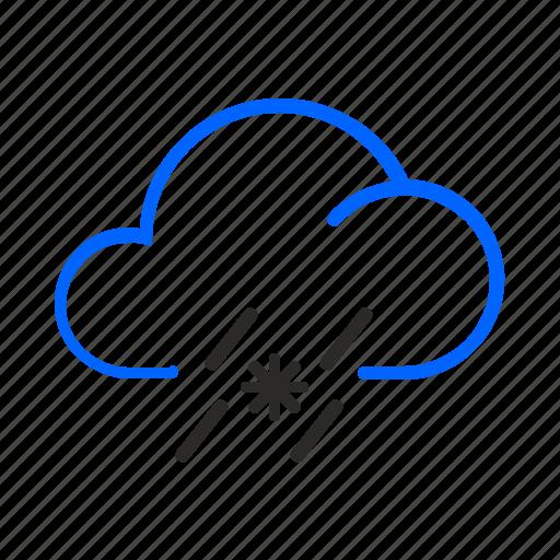 sleet, weather icon
