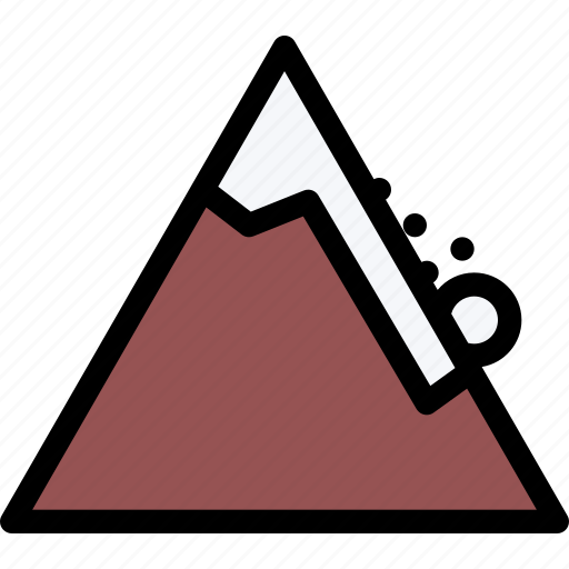 avalanche, mountain, nature, snow, weather icon
