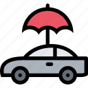 car, insurance, temperature, umbrella icon