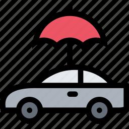 car, insurance, temperature, umbrella icon