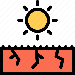 drought, nature, sun, weather icon
